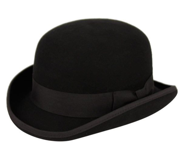 Wholesale Bulk Pack Round Crown Bowler Felt Hats With Grosgrain Band-GDP3553