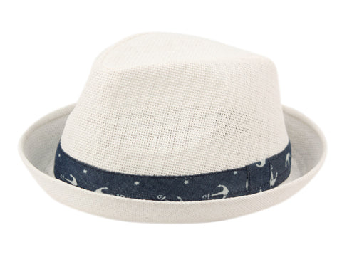 Wholesale Bulk Pack Kids Paper Straw Fedora Hats With Band-GDP3389