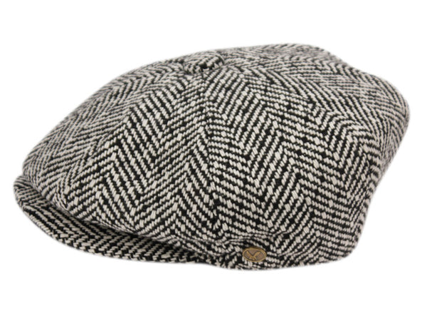 Wholesale Bulk Pack Herringbone Wool Blend Newsboy Cap-GDP1052