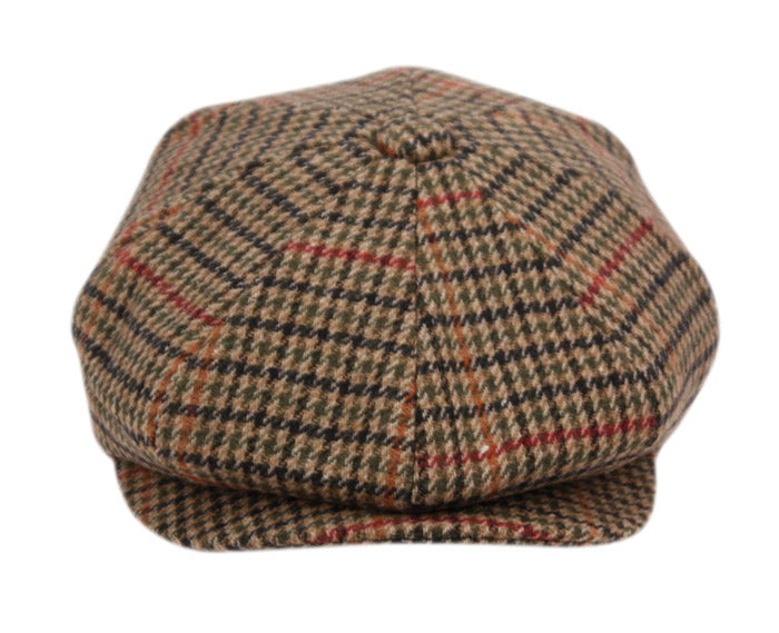Wholesale Bulk Pack Houndstooth Plain Wool Blend Newsboy Cap-GDP1035
