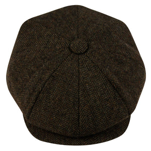 Wholesale Bulk Pack Brushed Herringbone Wool Blend Newsboy Cap-GDP1098