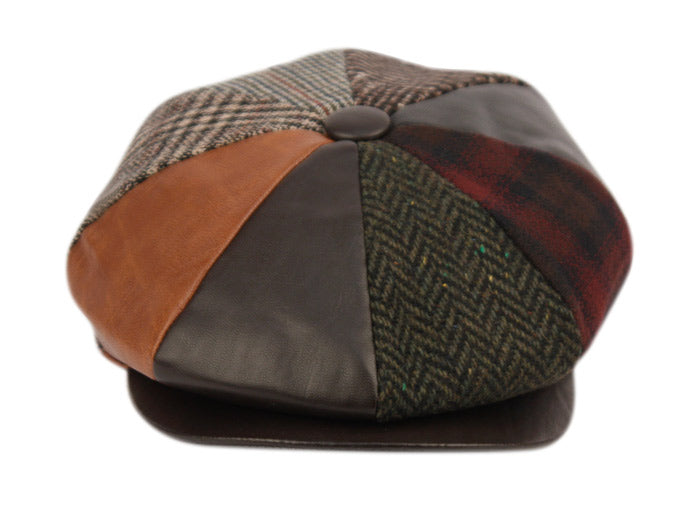Wholesale Bulk Pack Multi Patch Work Newsboy Cap-GDP1023