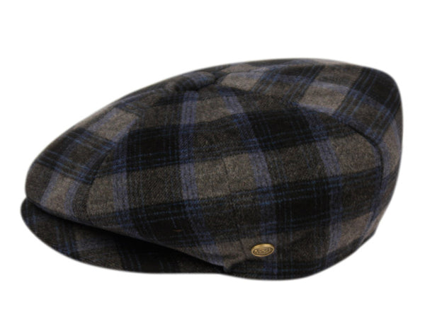 Wholesale Bulk Pack Brushed Wool Blend Check Newsboy Cap-GDP1081