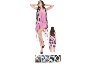 Wholesale Bulk Pack Chiffon Cover Up Assorted Colors-GDP4616