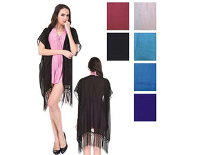 Wholesale Bulk Pack Chiffon Cover Up Assorted Colors-GDP4619
