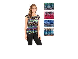 Wholesale Bulk Pack Missy Size Blouse Assorted Colors-GDP4653