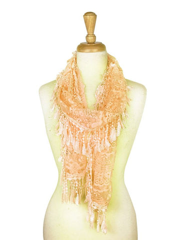 Wholesale Bulk Pack Lace Scarf L. Beige GDYH30-12