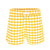 Fish Scale Swim Trunks in Yellow