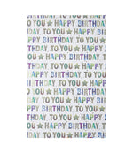 Pizazz Happy Birthday Wrapping Paper