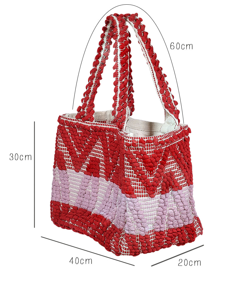 Aztec Red Beach Bag