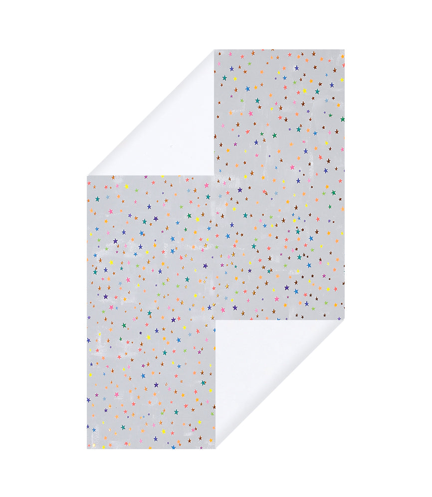 Multi Color Stars Wrapping Paper