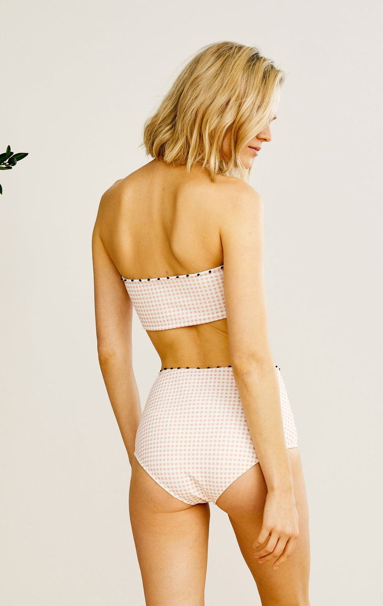 Corsica Bikini Bottom Midi Lemonade Gingham