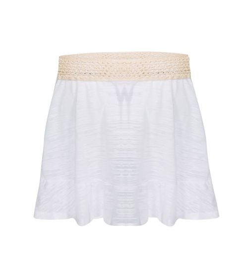 Pitusa Crochet Skirt White