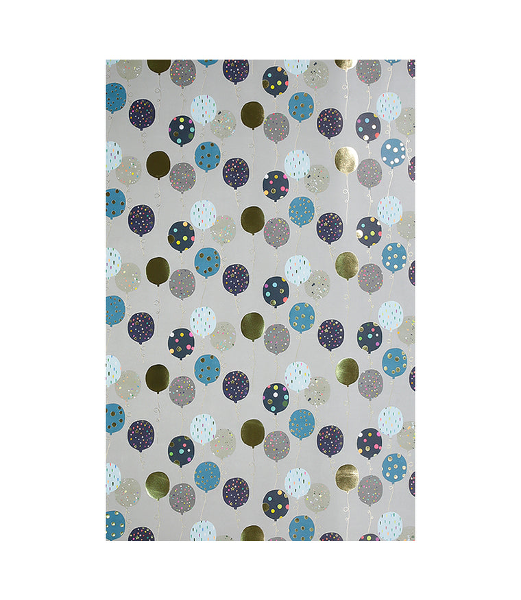 Grey Balloons Wrapping Paper