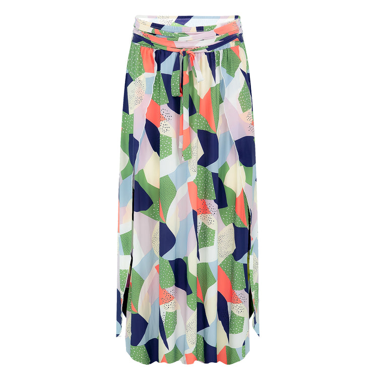 Colour Camo High Waisted Skirt Cantaloupe