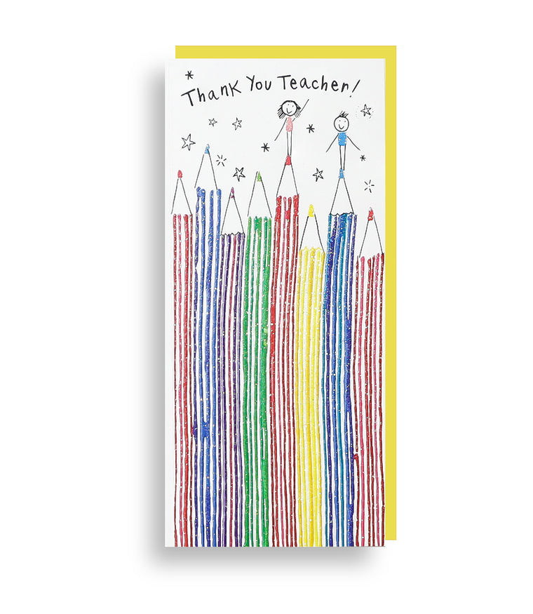Thank You Teacher Pencil Card