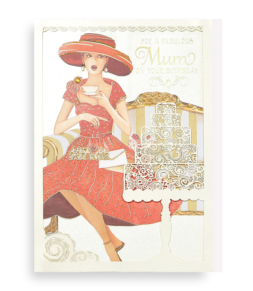 Fabulous Mum Birthday Card