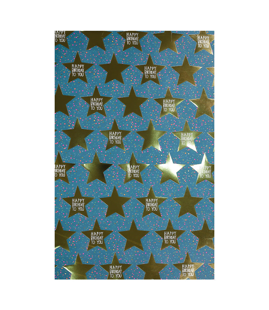 Star Birthday Wrapping Paper