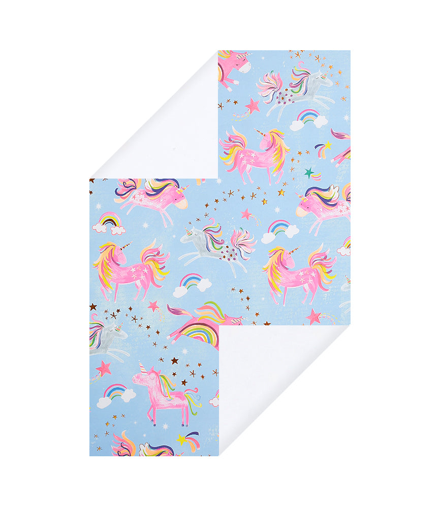 Unicorn & Rainbow Wrapping Paper