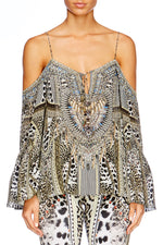 Animal Instinct Drop Shoulder Top