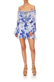 Camilla Blouson Sleeve Playsuit The Fan Sea