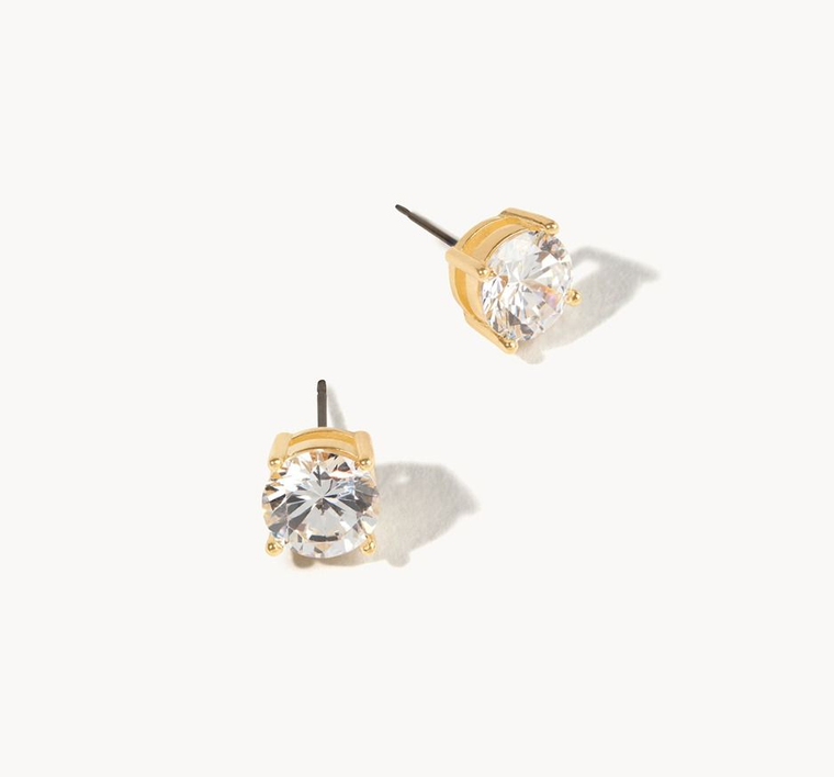 Delicate Sparkle Stud Earrings Crystal