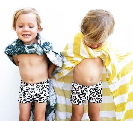 Mini Boys Hugh Trunks Safari Leopard