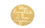 Locket Note Dear Daughter I Love You