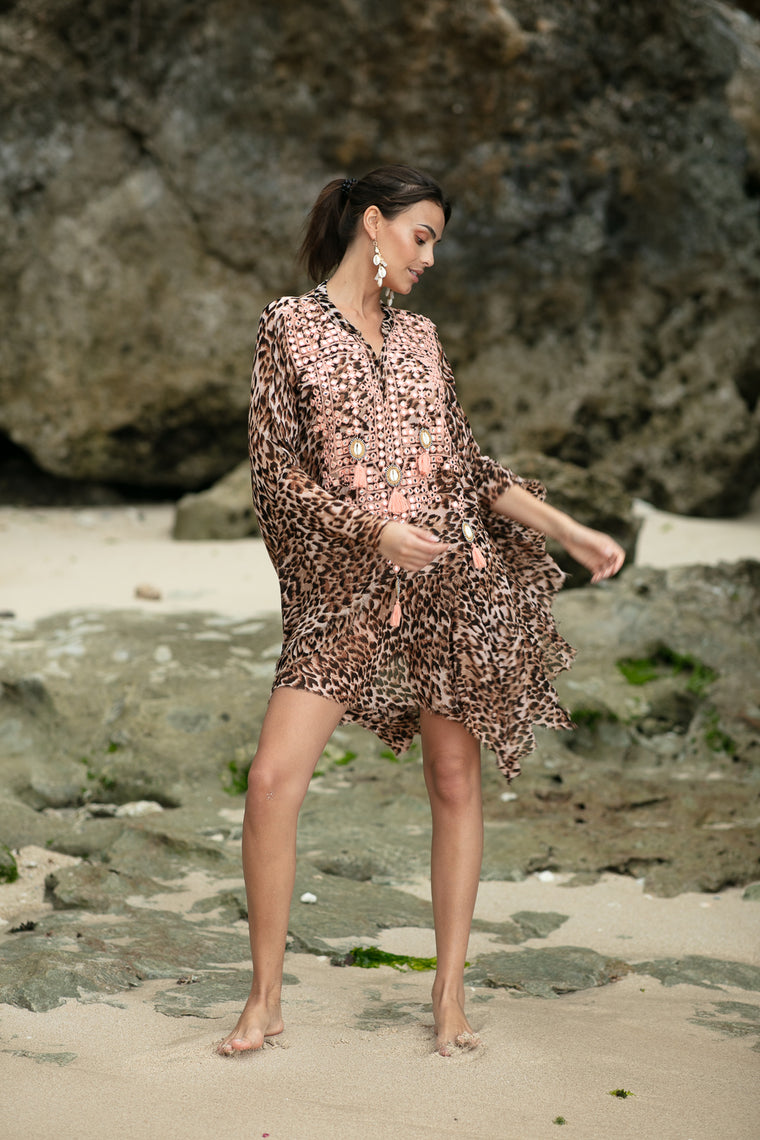 Ashanti Kaftan Jungle Peach