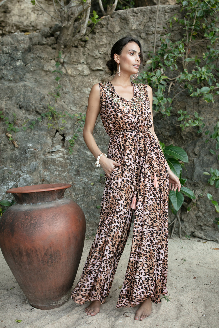 Keyah Jumpsuit Jungle Peach