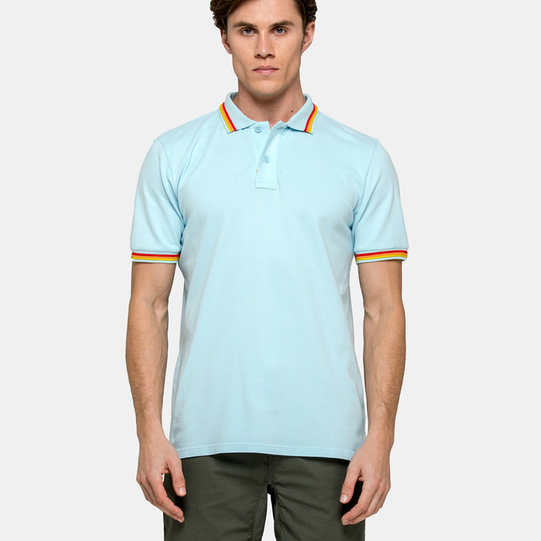 baby blue mens polo