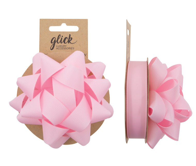 Ribbon & Bow Grosgrain Baby Pink