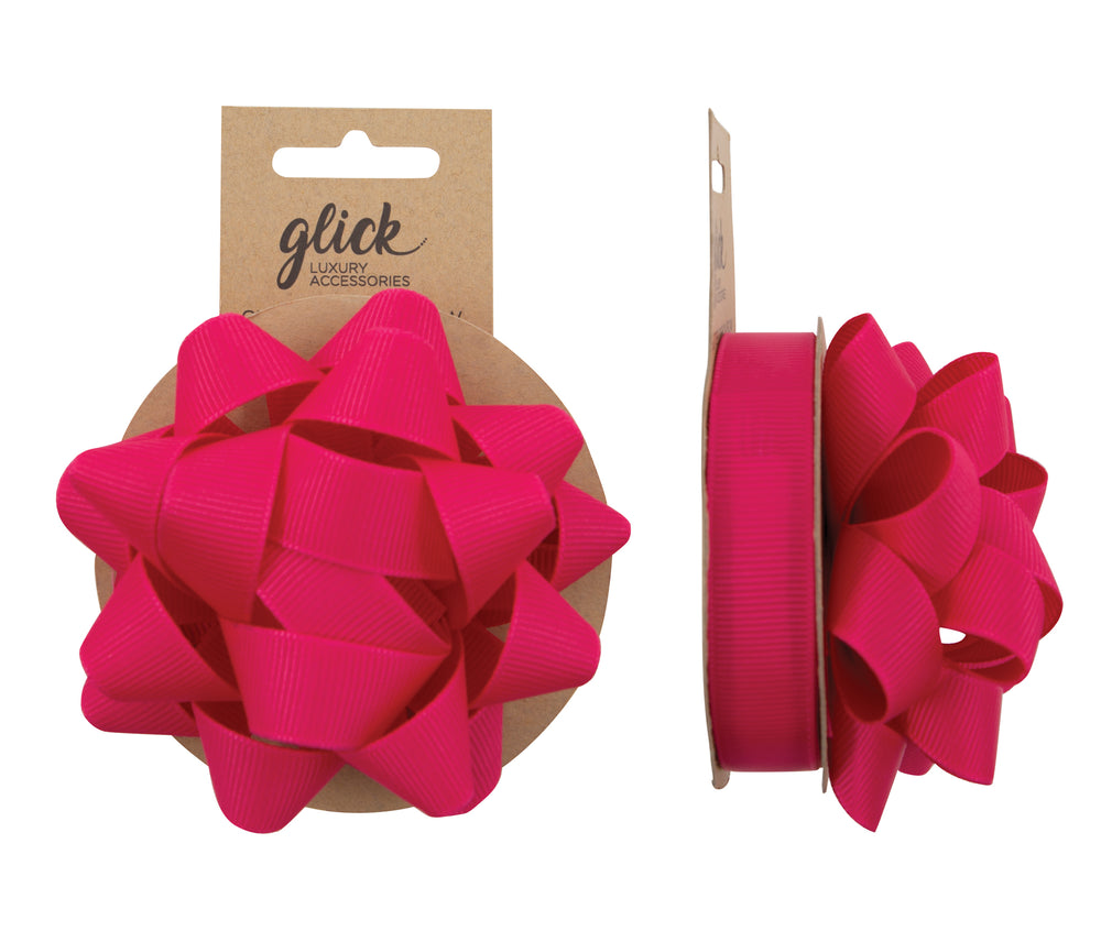 Ribbon & Bow Grosgrain Hot Pink