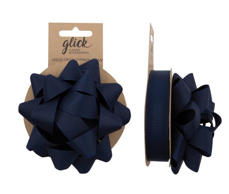 Ribbon & Bow Grosgrain Navy Blue