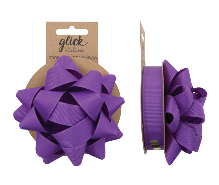 Ribbon & Bow Grosgrain Purple