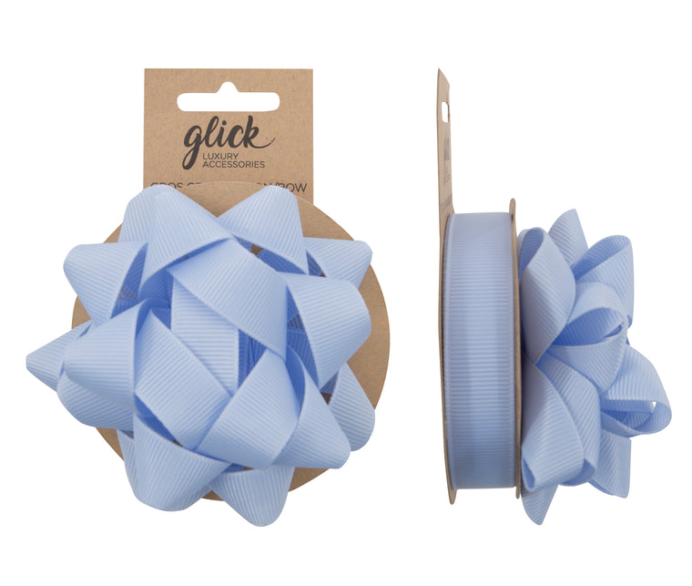 Ribbon & Bow Grosgrain Baby Blue