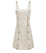 Amy Pinafore Dress Oatmeal