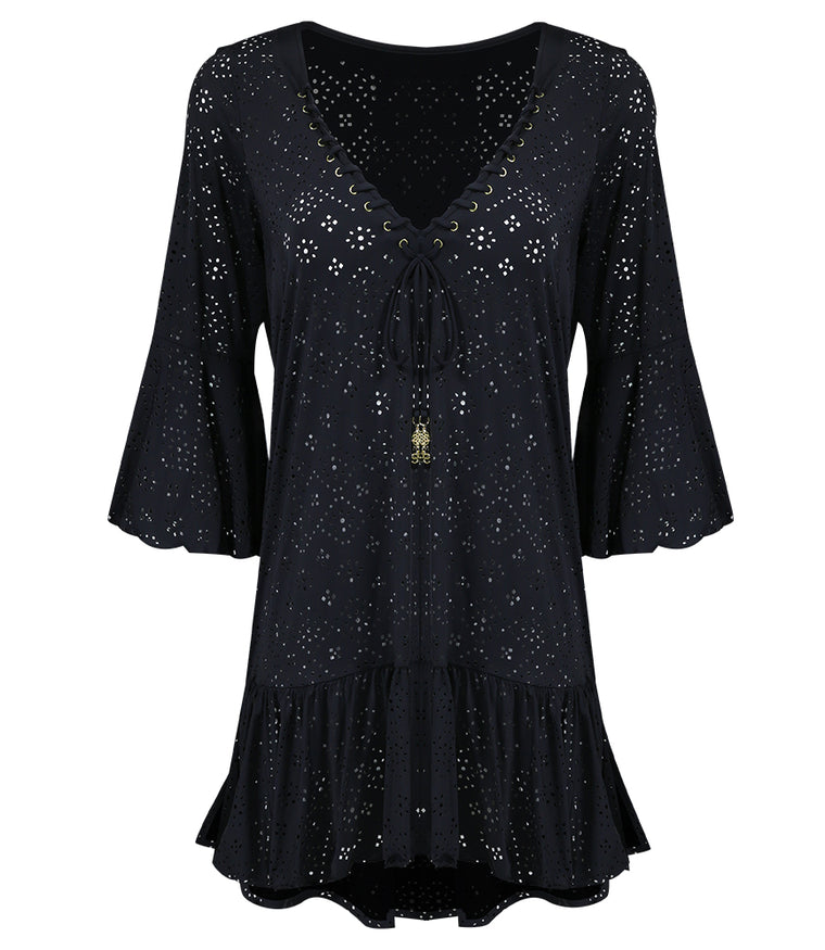 Beach Kaftan Black