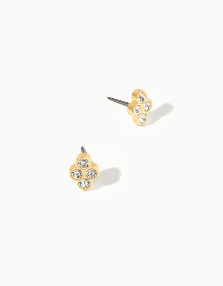 Delicate Sprite Stud Earrings Crystal