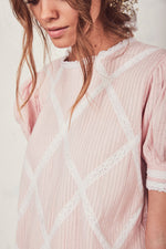 Addie top Pearly pink