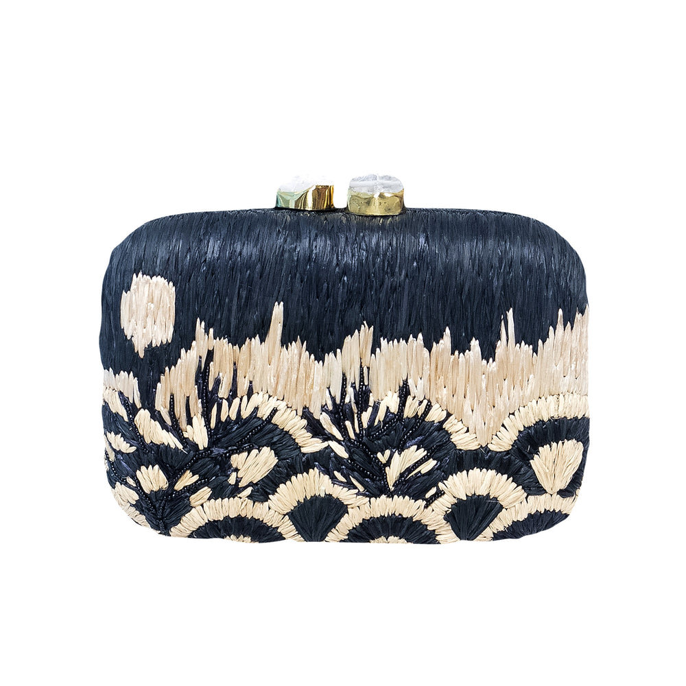 Coralia Clutch Black & White