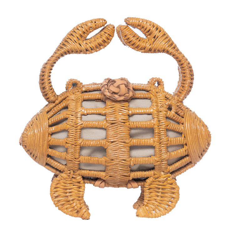Crab Clutch Handbag Natural