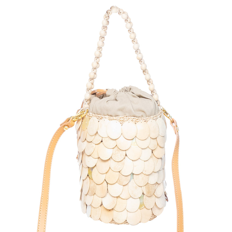 Fishscale Handbag Cream