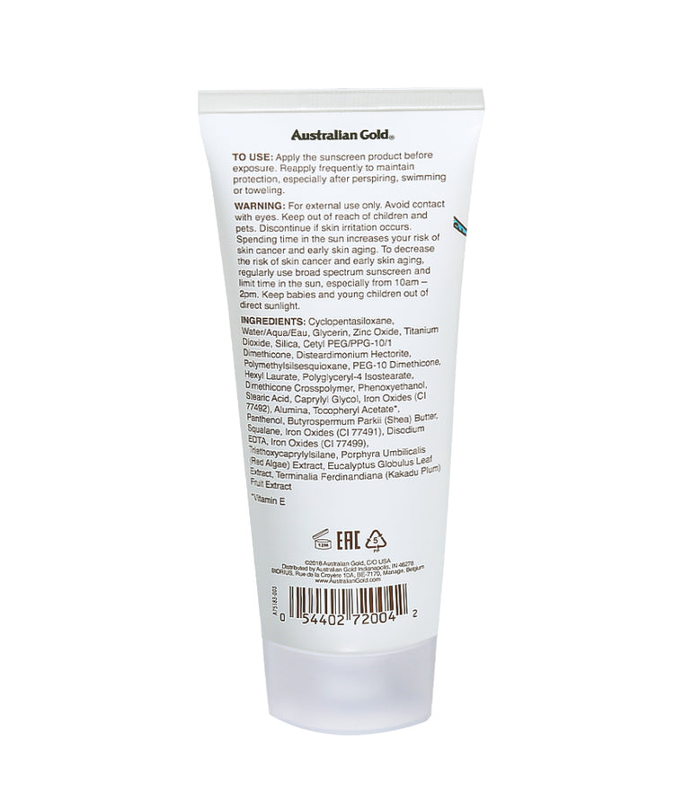 Australian Gold Botanical SPF 50 Tinted Face Mineral Lotion