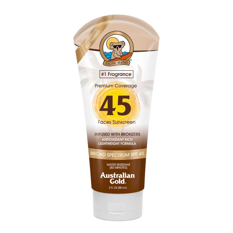 Australian Gold SPF 45 Face Sun Cream and Bronzer