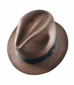 Panama Hat Unisex Classic Brown with Black Band