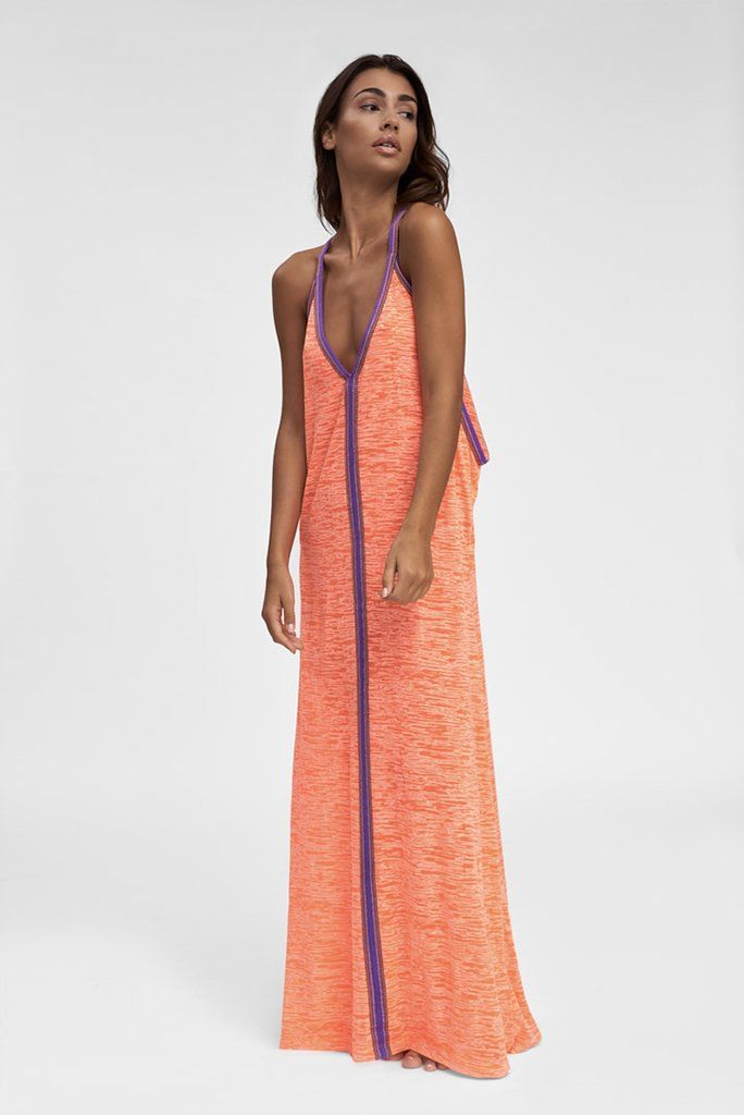 Inca Sundress Coral with Purple