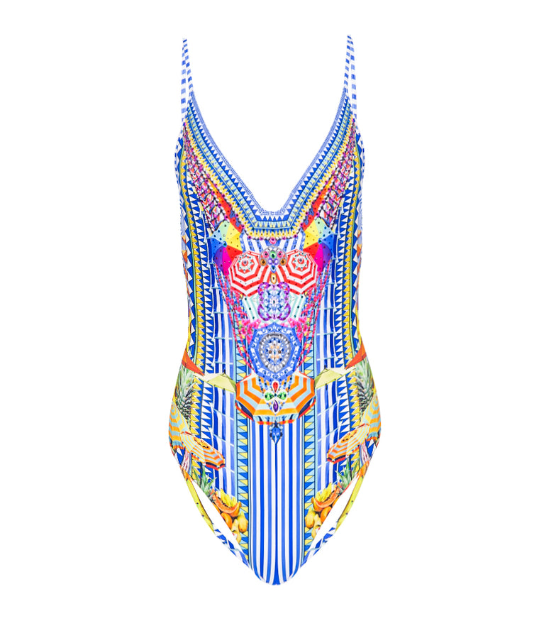 Book A Shade Wired V-Neck One Piece