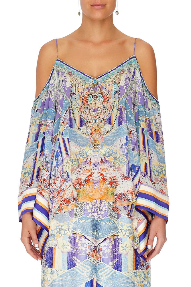 Camilla Flare Sleeve Top Girl In The Kimono