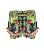 Toucan Play High Waisted Shorts With Frill